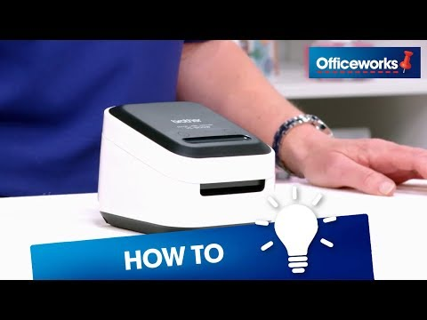 How to set up the Brother VC-500W Colour Label Printer