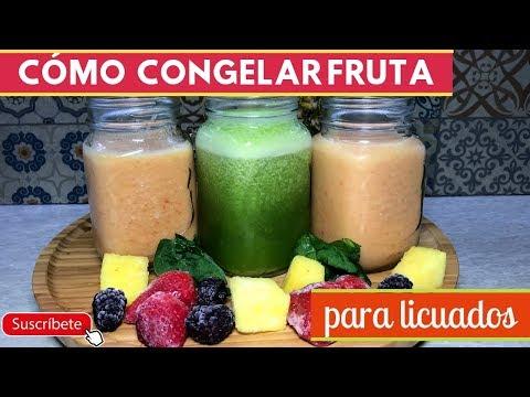 Cómo congelar fruta para licuados | Cocina de Addy