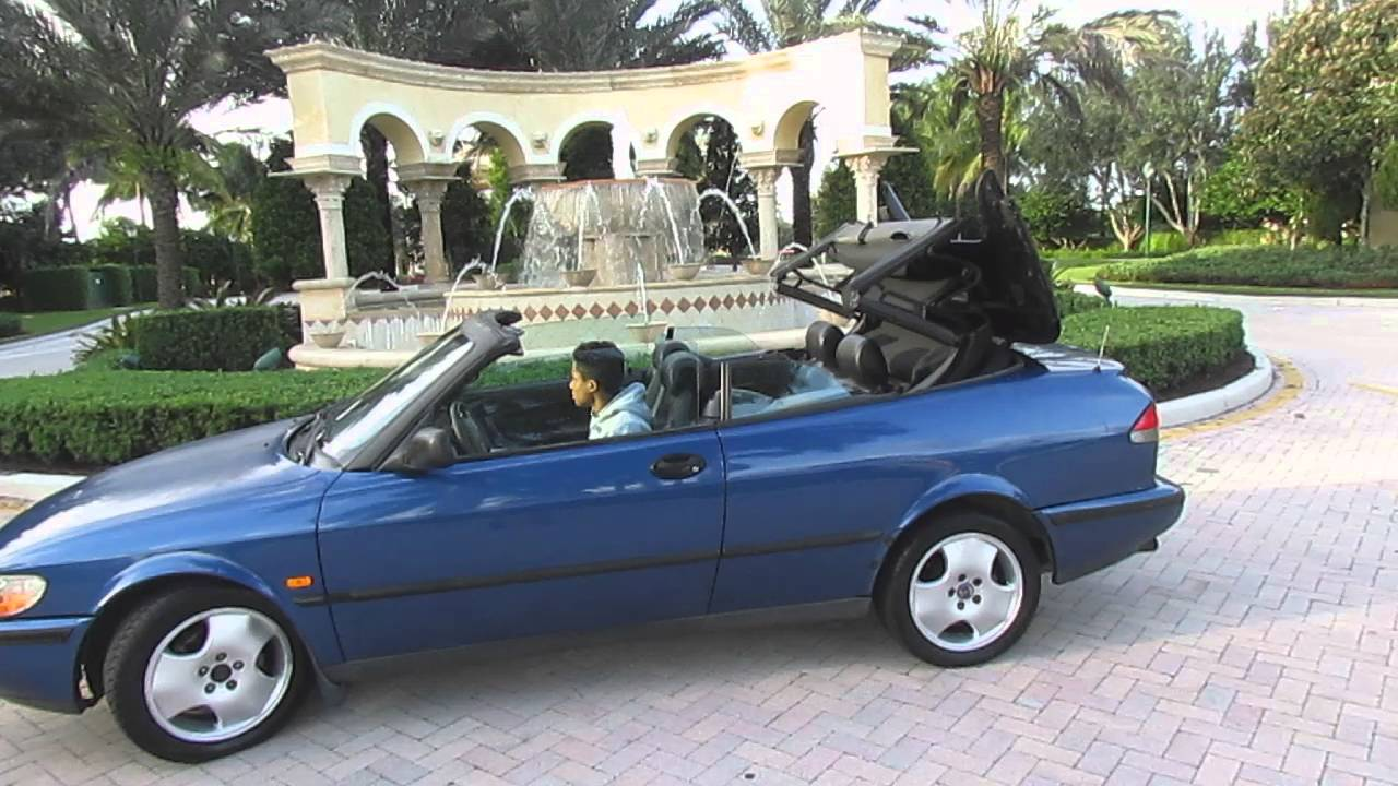 1998 Saab 900 Se Convertible Top Operation Going Down