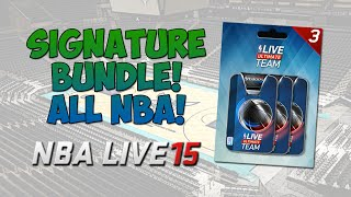 LUT 15 - All-NBA Team Pack Opening! | NBA Live 15 Ultimate Team - Signature Bundle Opening