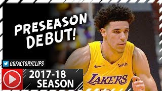 lonzo ball full ps highlights vs timberwolves 2017 09 30 5 pts 7 reb 8 ast