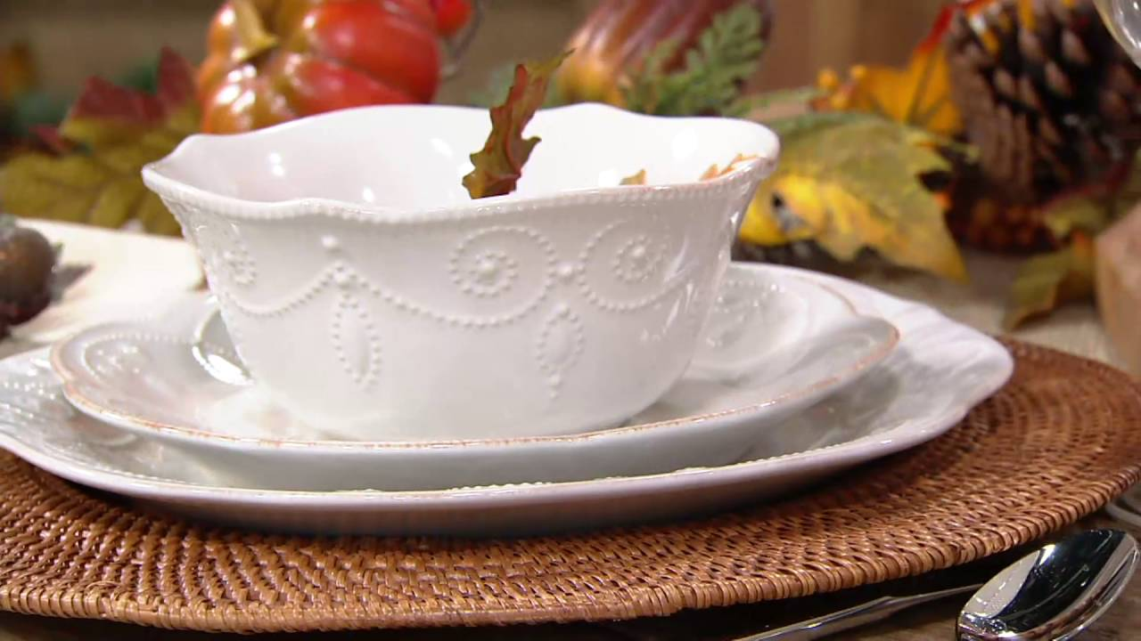 & Lenox French Perle 12-pc Dinnerware Set on QVC - YouTube