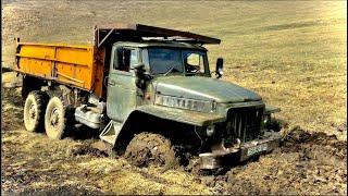 УРАЛ Застрял 2 МТЗ и Трактор Т-40 Еле Вытащил | Off-road 2020
