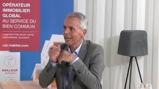 Inauguration digitale avec R. Payre, Vice-président du Grand Lyon et A. Canova, Dir régionale AURA