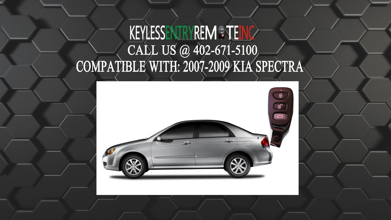 How To Replace Kia Spectra Key Fob Battery 2007 2008 2009