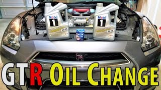 ★NISSAN GTR Oil Change w/Oil & Filter Service Light Reset ★