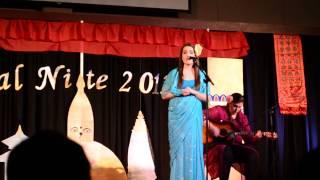 American singing Nepali song Phul ko aankhama