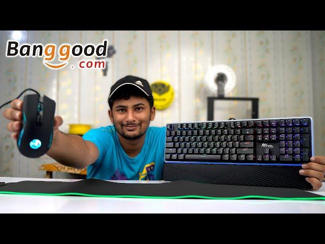 BANGGOOD.COM RGB Gaming PAD | RGB Gaming Mouse | RGB Mechanical Keyboard Unboxing Review Urdu Hindi