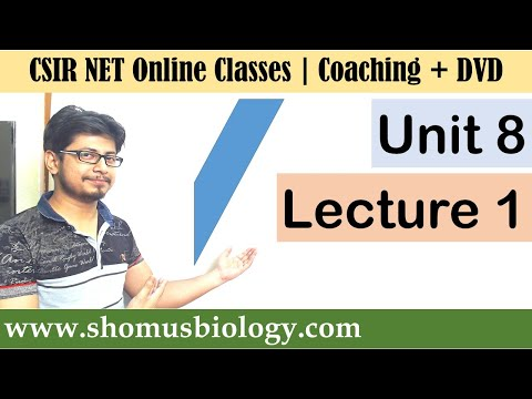 csir-net-life-science-lectures---unit-8-lecture-1