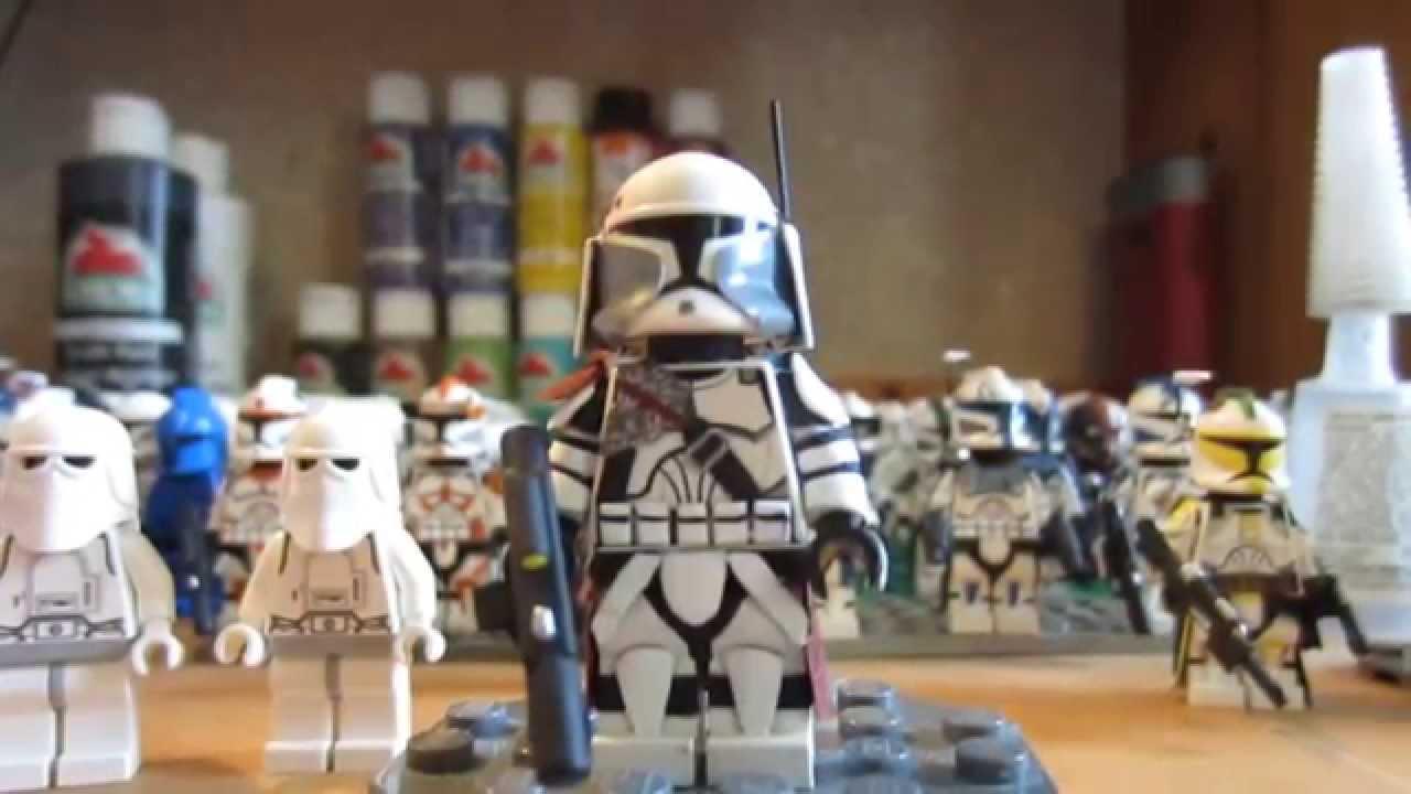 custom lego star wars clone commander bacara youtube
