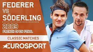 Roger Federer vs Robin Söderling Highlights   French Open 2009 Men's Final   Eurosport