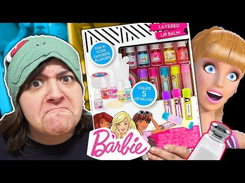 DID BARBIE MAKE A CRAP KIT? Testing Barbie's Lip Balm Craft Kit SaltEcrafter #57