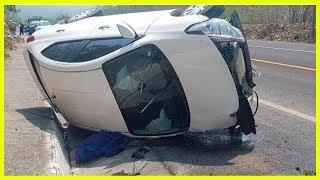 Joven muere al ser aplastada por auto en volcadura