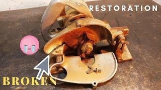 VERY Old Electric Wood Groove Cutter Broken Restoration - MAKITA JAPAN