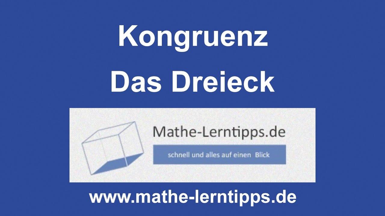 Kongruenz bei Dreiecken - verständlich erklärt - mathe-lerntipps.de ...