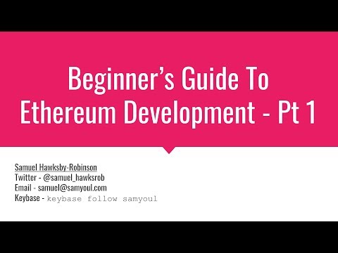 Ethereum Contract Development Beginner's Guide