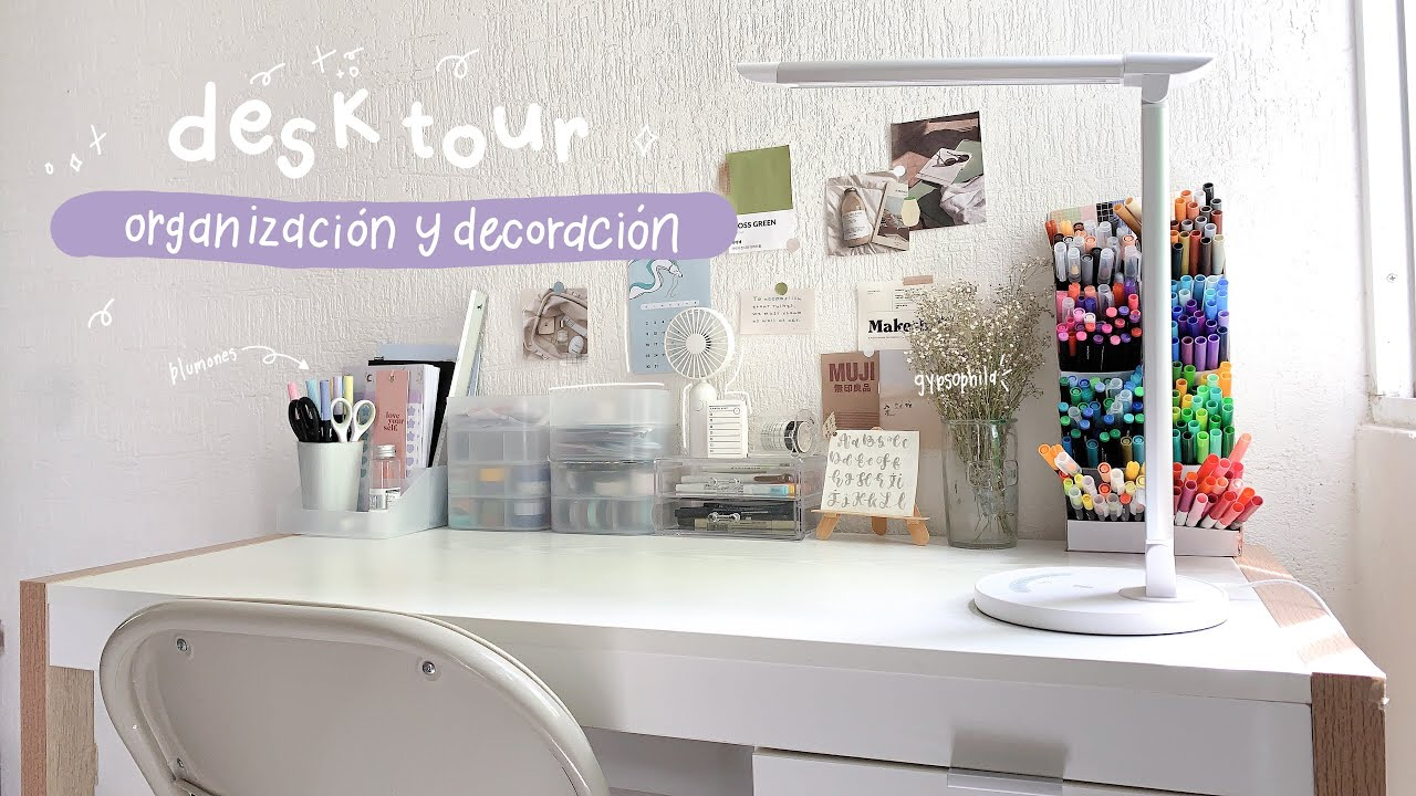 aesthetic desk tour : mi lugar favorito