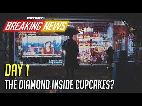 PAYDAY 2: Breaking News Day 1: The Diamond is Back + Golden Houston Mask (Crimefest 2018)