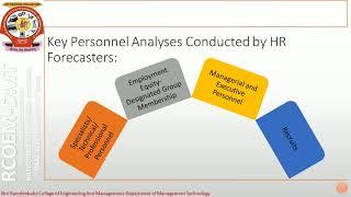 Mba human resource forecasting process