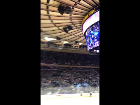 Crowd reacts to New York rangers overtime goal