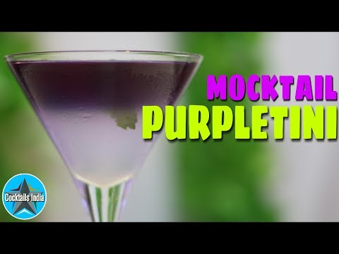How to make Mocktail Purpletini in hindi   Mocktail with Coconut Water   Dada Bartender   Martini