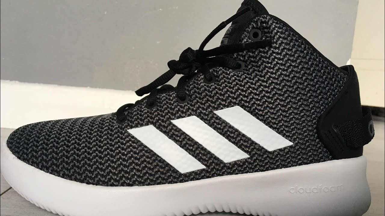 9ed3071d4811 New Adidas CF Refresh Mid 74 Black White Unboxing! - YouTube