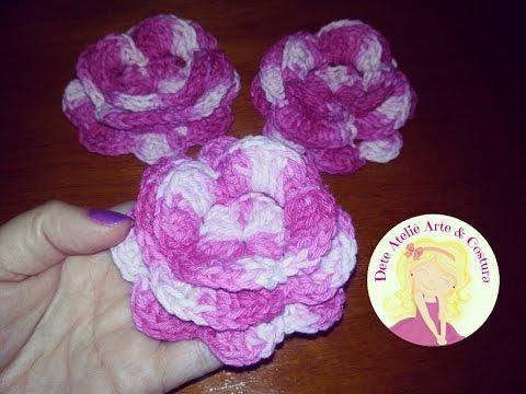 Flor Rosa do Deserto em Crochê