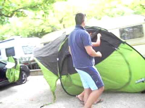 How to rig up a Quechua T2 tent