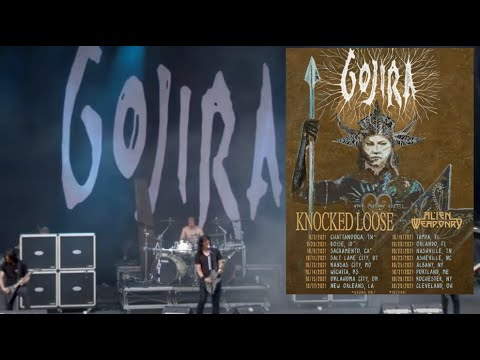 Gojira announce headline tour 2021 with Knocked Loose and Alien Weaponry!