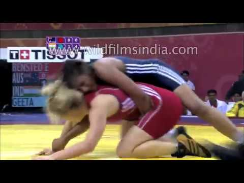 Dangal - last scene fight - Geeta Phogat real match - common wealth games