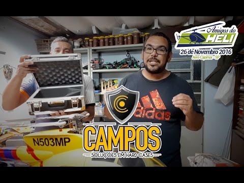 Sorteio maleta para rádio da Campos Cases no Amigos do Heli