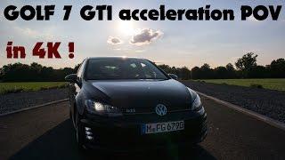 golf 7 gti acceleration pov in 4k