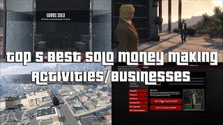 GTA Online Top 5 Best Solo Money Making Businesses And Activities