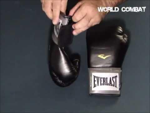 Luva de Boxe Everlast Pro Style Preto - YouTube 593e668a6f798