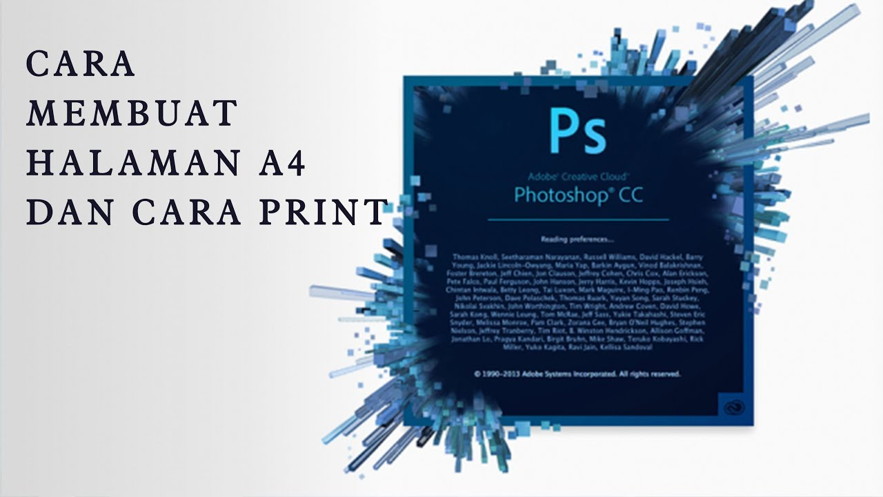 Cara Membuat Halaman A4 di Photoshop CC dan Cara PRINT