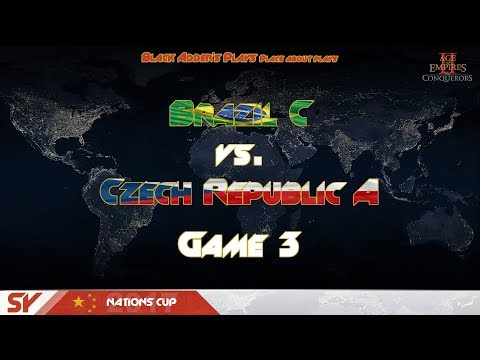 SY Nations Cup 2017, GL, R2 - Brazil C vs. Czech Republic A, G3 - Age of Empires II: The Conquerors