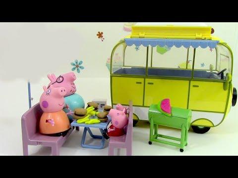 Camping Car de Peppa Pig Camper van Toy Pâte à modeler Play doh Jouets