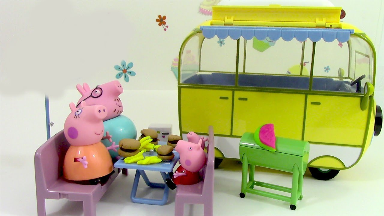 camping car de peppa pig camper van toy p te modeler. Black Bedroom Furniture Sets. Home Design Ideas