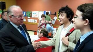 Rencontre avec l'ex-premier ministre Bernard Landry