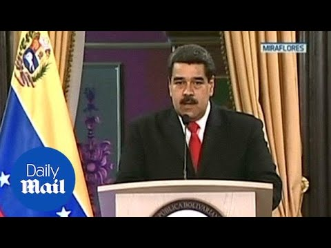 Maduro accuses Colombia and United States of involvement