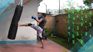 Muay Thai basico - COMBINACION FACIL - kick boxing