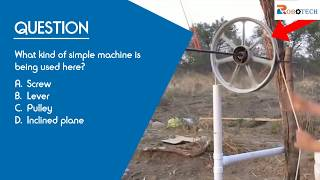 Grade 4 (Question 3) - What kind of simple machine is being used here?