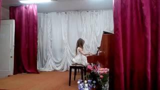 Открытый урок по фортепиано ( первый год обучения) - Валерия Холоденко, 6 лет