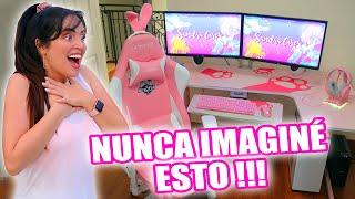TRANSFORMACIÓN EXTREMA! 😱 UN SETUP TODO ROSA! 😍 SORPRESA ÉPICA!!! Pink Gaming SetUp 🔥 SandraCiresArt
