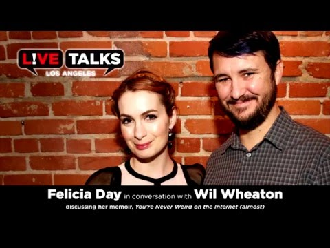 Felicia Day with Wil Wheaton