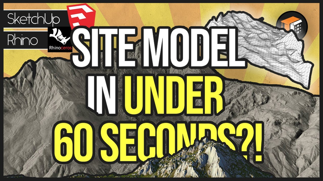 How To Model 3d Site Topography Terrain From Google Earth Sketchup Rhino Site Model Tutorial Youtube