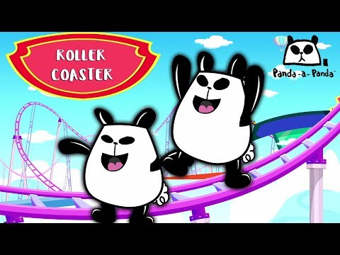 Roller Coaster | Panda A  Panda | Cartoon Video For Toddlers | Video For Childrens by Kids Channel