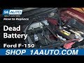 How To Replace Dead Battery 2004-2011 Ford F-150