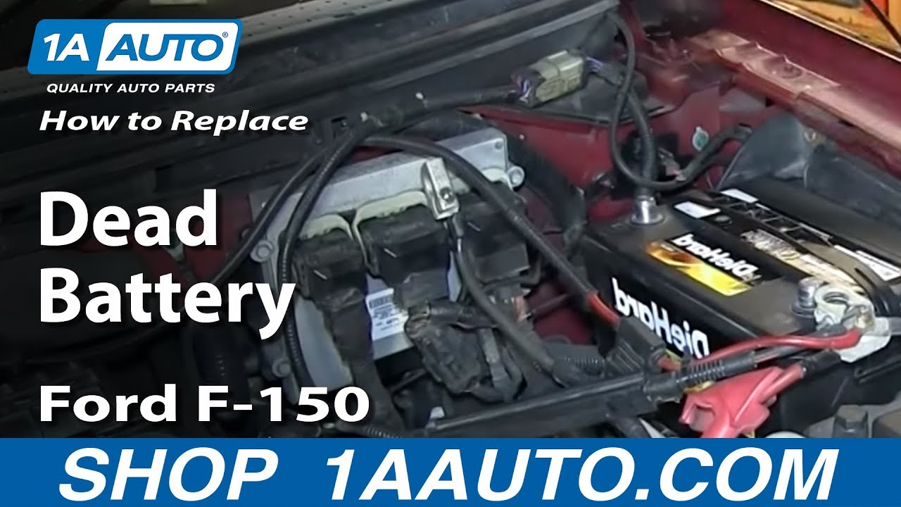 How To Replace Dead Battery 04 11 Ford F 150
