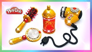 Play Doh Hair Salon Set. Play Doh Makeup Hairdresser Toys. DIY How Make for Girls